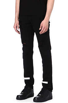 OFF-WHITE C/O VIRGIL ABLOH Striped Bull slim-fit tapered jeans