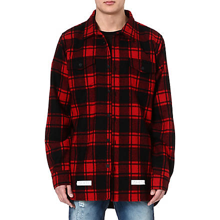 OFF-WHITE C/O VIRGIL ABLOH Checked shirt (Red