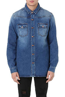 OFF-WHITE C/O VIRGIL ABLOH Faded blue denim shirt