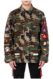 OFF-WHITE C/O VIRGIL ABLOH Camouflage jacket with patches