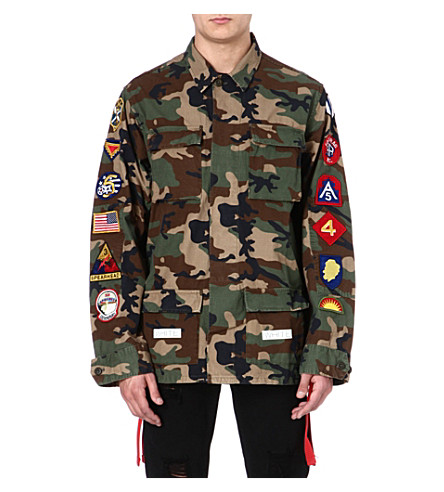 OFF-WHITE C/O VIRGIL ABLOH Camouflage jacket with patches (Camoflage