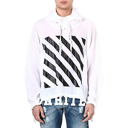 OFF-WHITE C/O VIRGIL ABLOH Striped windbreaker hoody (White