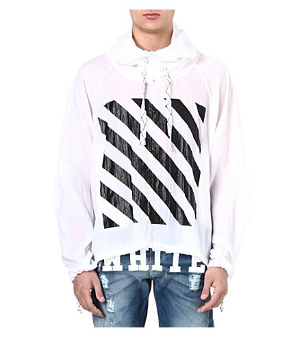 OFF-WHITE C/O VIRGIL ABLOH Striped windbreaker hoody (White
