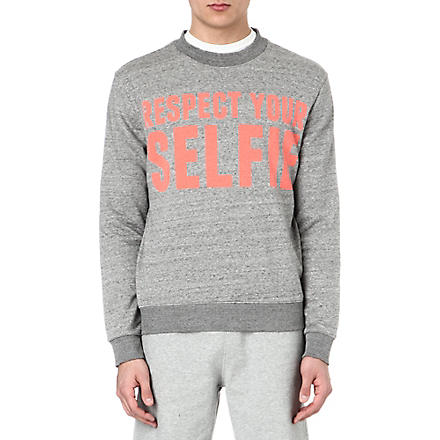 SELFRIDGES Selfies logo sweatshirt (Grey/ pink