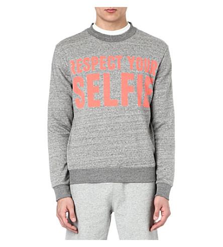 SELFRIDGES Selfies logo sweatshirt (Grey/ pink