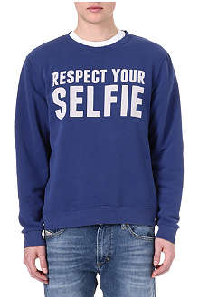 SELFRIDGES Respect Your Selfie sweatshirt