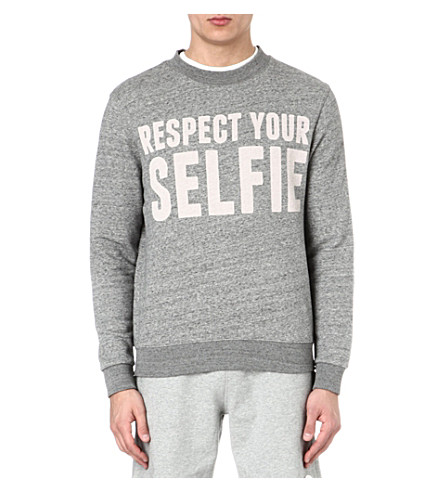 SELFRIDGES Selfies logo sweatshirt (Grey/off white