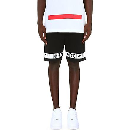 DOPE CHEF Japan Nation Flag shorts (Black/white