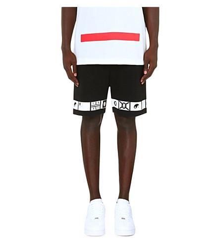 CHEF LONDON Japan Nation Flag shorts (Black/white