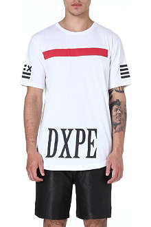 DOPE CHEF Printed dipped-hem t-shirt