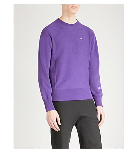 CHAMPION Crewneck cotton-jersey sweatshirt (Purple
