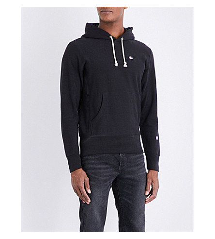 CHAMPION Classic cotton-jersey hoody (Black