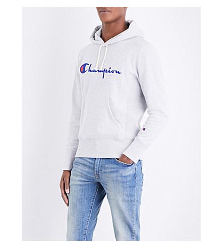 CHAMPION Classic cotton-jersey hoody (Grey