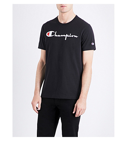 CHAMPION Classic cotton-jersey T-shirt (Black