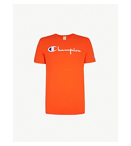 CHAMPION Classic cotton-jersey T-shirt (Orange