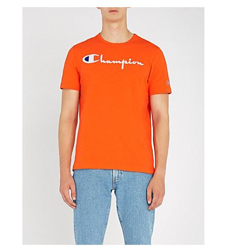 CHAMPION经典平纹针织棉 T 恤 (橙色