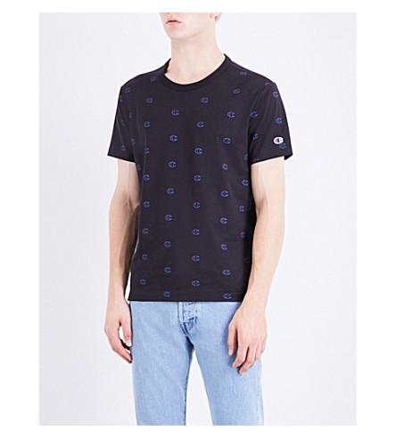 CHAMPION Logo-print cotton-jersey T-shirt (Black