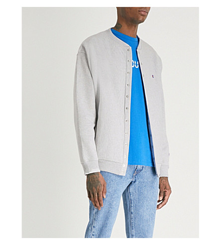 CHAMPION X BEAMS Champion x Beams jersey bomber jacket (Grey