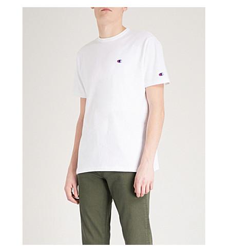 CHAMPION X BEAMS Pocket-detail cotton-jersey T-shirt (White