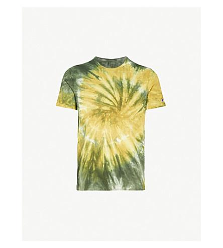 CHAMPION Tie-dye cotton-jersey T-shirt (Khaki tie dye