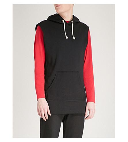 CHAMPION Sleeveless cotton-jersey hoody (Black