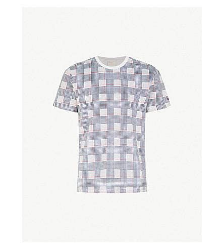 CHAMPION Checked cotton-jersey T-shirt (Grey