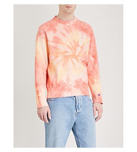 CHAMPION Tie-dye cotton-blend sweatshirt (Pink tie dye