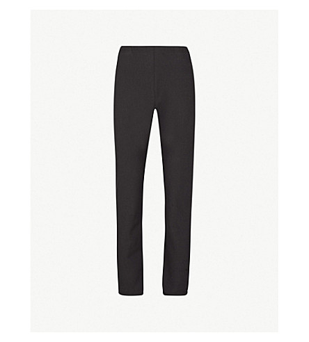 CHAMPION 休闲版型平纹针织棉慢跑裤 (黑色