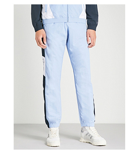 CHAMPION徽标打印软壳面料裤子 (蓝色 + 海军 + 白色