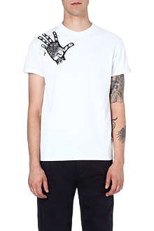 BLAG Hand-motif cotton t-shirt