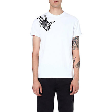 BLAG Hand-motif cotton t-shirt (White