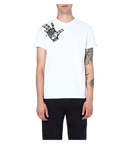 BLAG Hand-motif cotton t-shirt (White