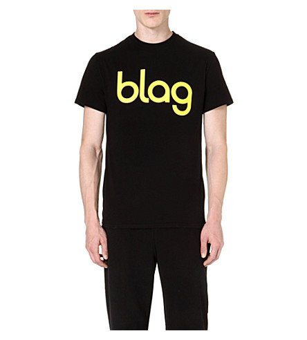 BLAG Logo cotton t-shirt (Black/ yellow