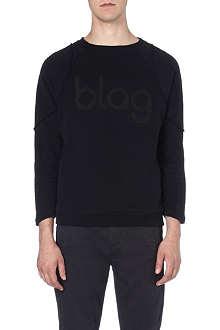 BLAG Panelled logo sweatshirt