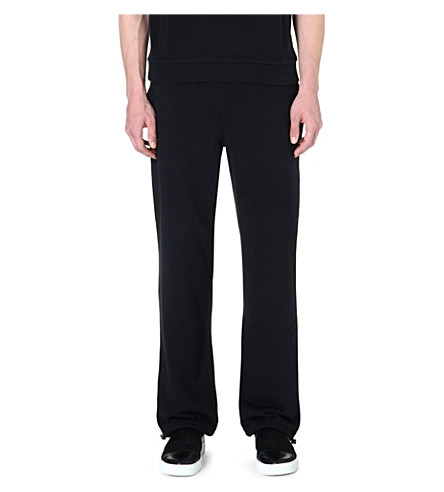 BLAG Drawstring cotton jogging bottoms (Black