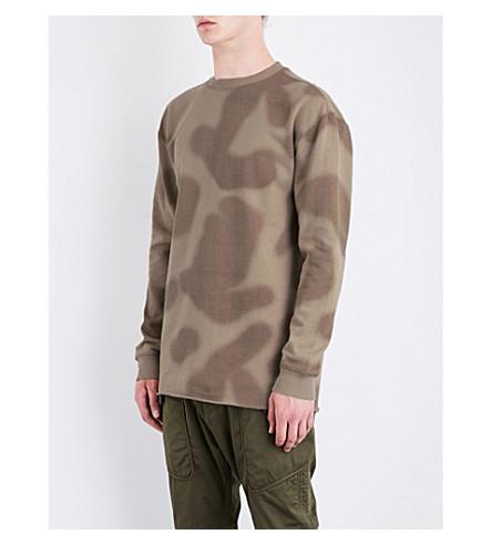MAHARISHI Camouflage-print cotton-jersey sweatshirt (Desert