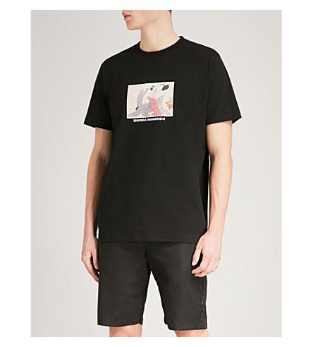 MAHARISHI Shunga-print cotton-jersey T-shirt (Black
