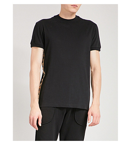 卡帕 KONTROLL 像没有其他棉质平纹针织衫 t恤衫 (黑色