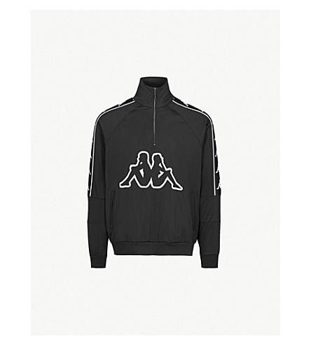 KAPPA KONTROLL Logo-embroidered woven sweatshirt (Black