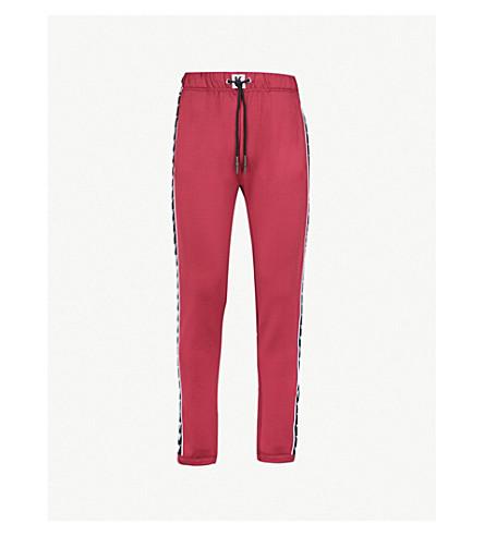 KAPPA KONTROLL Logo-print woven jogging bottoms (Red