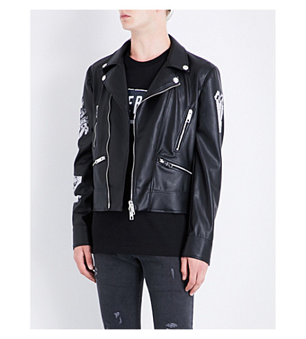 VERSACE VERSUS Versus x Zayn printed faux-leather jacket (Black