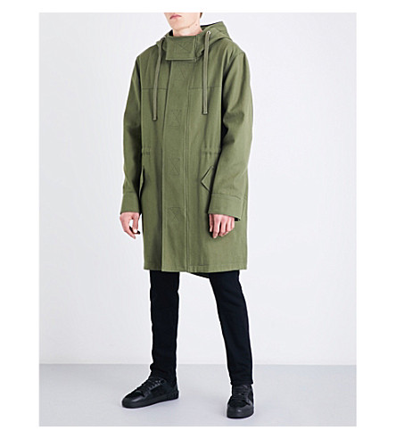 VERSACE VERSUS Versus x Zayn graphic-print cotton-drill parka jacket (Military+green