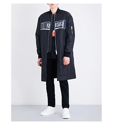 VERSACE VERSUS Versus x Zayn logo-print shell bomber jacket (Black