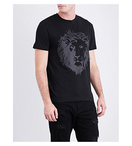 VERSACE VERSUS Lion-print cotton-jersey T-shirt (Black