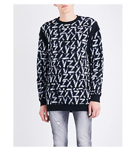 VERSACE VERSUS Versus x Zayn ZXV-print cotton-jersey sweatshirt (Whtie+black