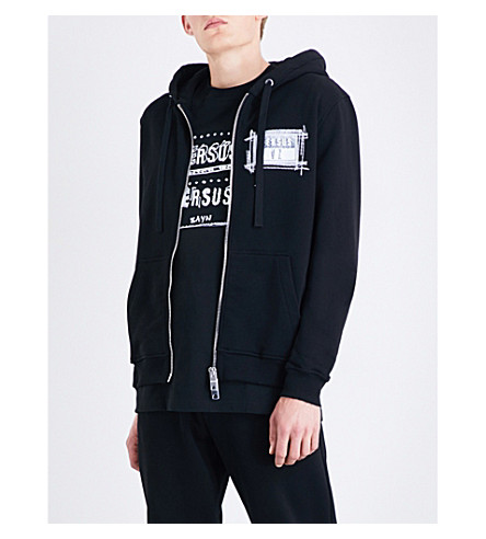 VERSACE VERSUS Versus x Zayn ZXV-print cotton-jersey hoody (Black