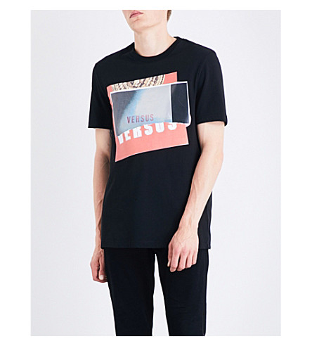 VERSACE VERSUS Versus x Zayn graphic-print cotton-jersey T-shirt (Black