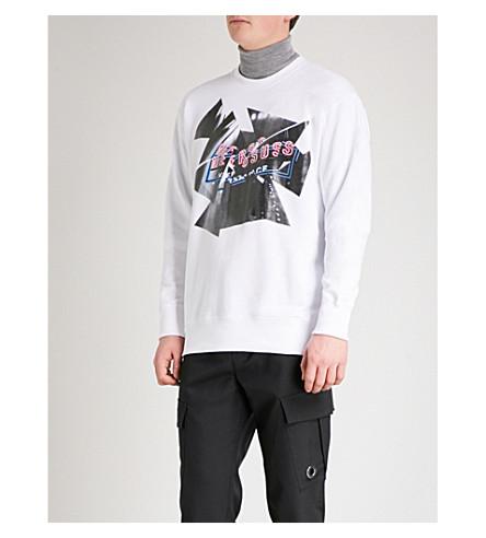 VERSACE VERSUS Neon Light cotton-jersey sweatshirt (White+print
