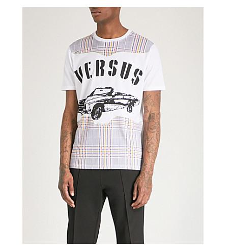 VERSACE VERSUS Graphic-print cotton-jersey T-shirt (White