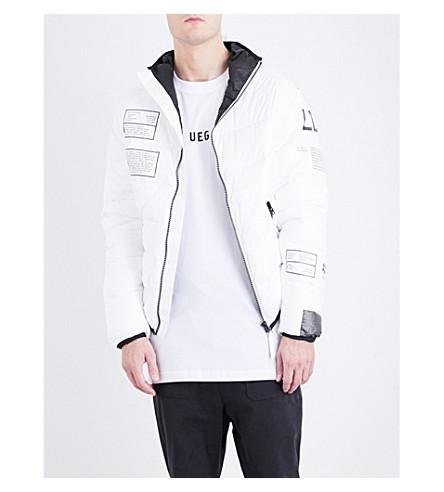 UEG Selfridges-print down jacket (White